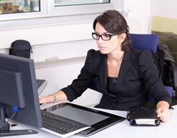 Female professional attending Online College in Apex NC